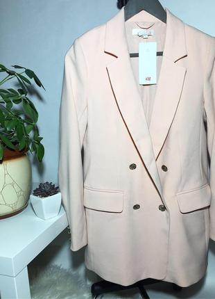 Женский двубортный пиджак h&m