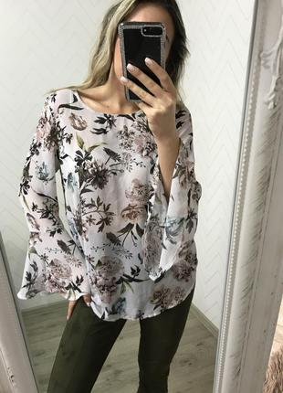 Блуза м рубашка в цветах