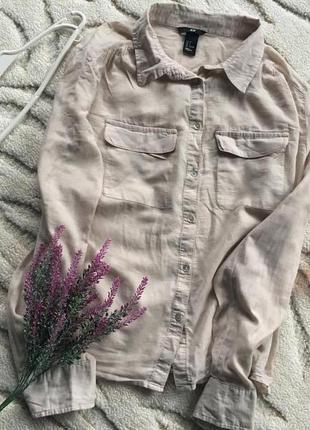 Бежевая , нюдовая рубашка от h&m