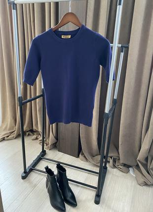 Джемпер свитер с коротким рукавом