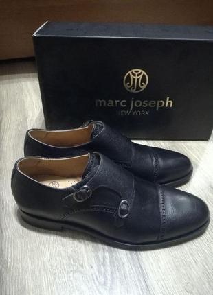 Туфли мужские кожаные marc joseph new york, черные. оригинал.