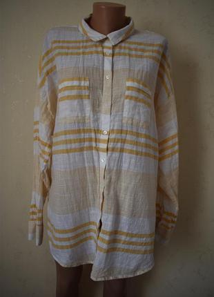 Натуральная блуза -рубашка большого размера new look