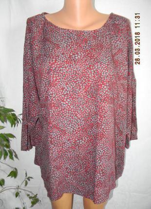 Блуза натуральная свободного кроя большого размера