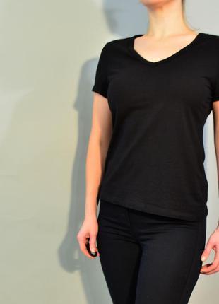 4191\30 черная футболка h&m l