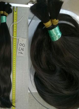 Шикарнейший черные славянские волосы для наращивания (831 номер)