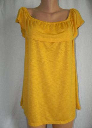 Трикотажная блуза сч открытыми плечами papaya