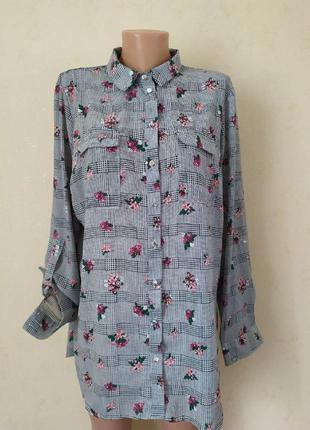 Блуза -рубашка с принтом большого размера primark