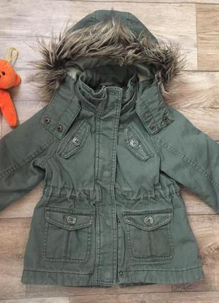 Крутая куртка парка деми для девочки h&m l.o.g.g