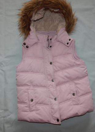 Fatface жилетка дутая стильная модная с капюшоном на девочку 8...
