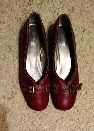Hotter кожаные туфли цвета марсала
