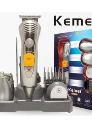 Машинка для стрижки волос 7 в 1 Kemei KM