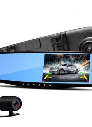 Видеорегистратор зеркало с камерой заднего вида 2 камеры DVR F...