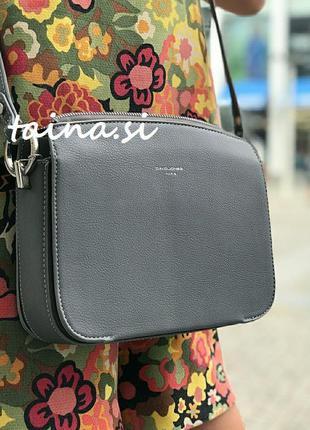 Клатч david jones cm3598a оригинал серая кросс боди сумка