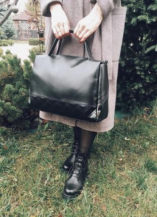 Большая женская сумка саквояж