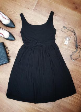 Классическое вечернее черное платье миди h&m класична вечірня ...