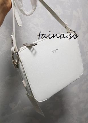 Клатч david jones cm3598a white оригинал белая кросс боди сумка