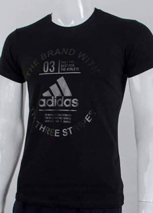 Футболка мужская, черный цвет, Adidas