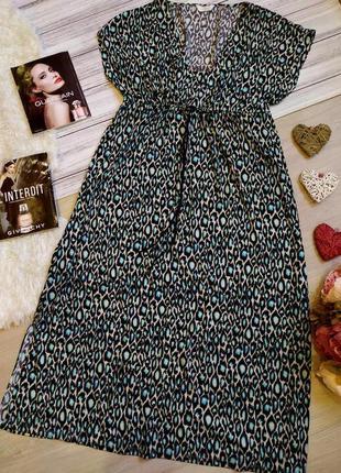 Красивое длинное платье в анималистичный принт размер16-18 (48...