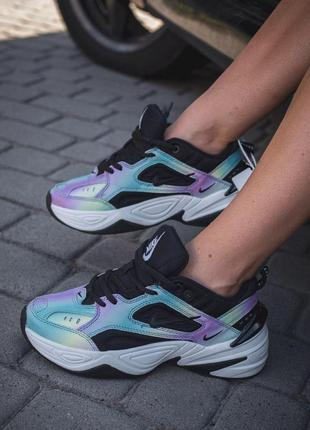 Nike air m2k tekno крутые кожаные женские кроссовки найк (весн...