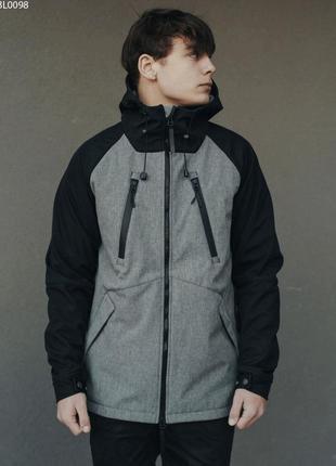 Куртка staff soft shell black & gray ros