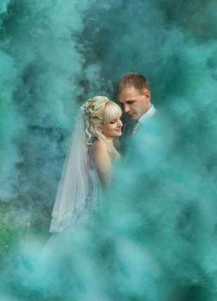 Зелений кольоровий дим середньої насиченості, Димова шашка