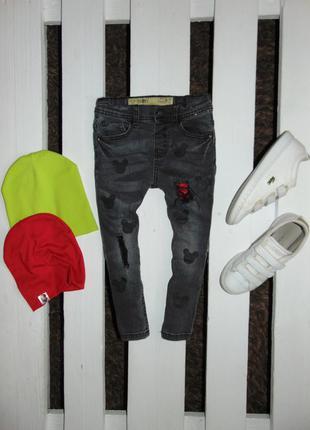 Круті завужені джинси з мікі denim co ріст 104