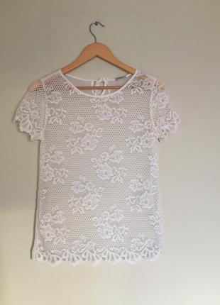 Кружевная блуза intimissimi блузка шифоновая с кружевом  р. s