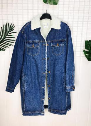 Утеплённая джинсовая куртка шарпа
