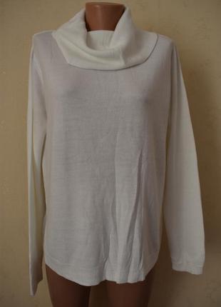 Белый свитер большого размера