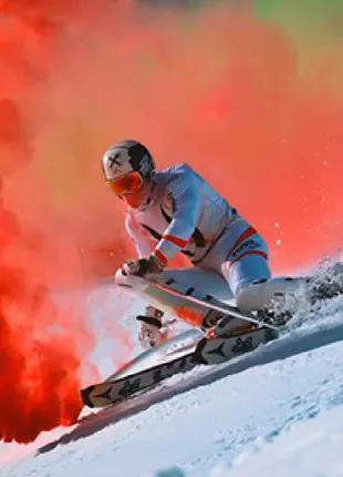 Червоний кольоровий дим (найнасіченішій (дім09), димова шашка