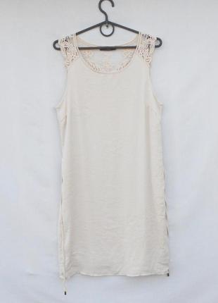 Летнее платье в бельевом стиле с кружевом vila