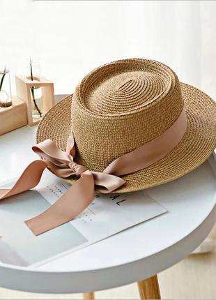 Стильная шляпа шляпка панама соломенная шляпа