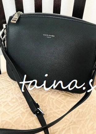 Клатч david jones cm3598a black оригинал черная кросс боди сумка