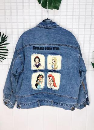 Женская утеплённая джинсовая куртка шарпа