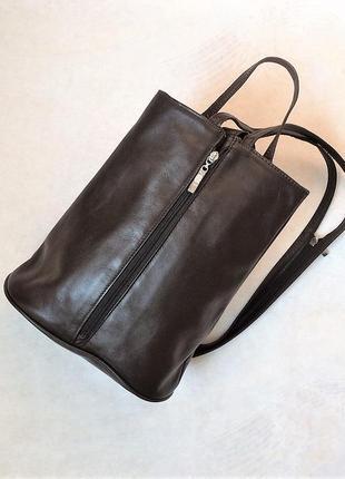 Шкіряний рюкзак сумка через плече 100% шкіра, 32см*28с*13см