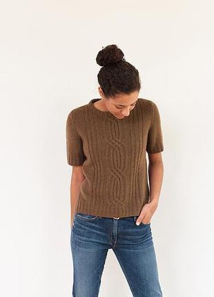 Betty barclay!шерстяной коричневый свитер,пуловер с короткими ...