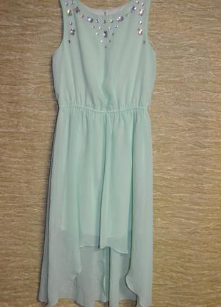 Нарядное дизайнерское платье star от julien macdonald цвета мя...