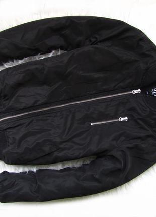 Стильная теплая  куртка бомбер   с капюшоном new look