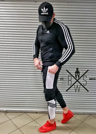 Костюм спортивный Adidas (Черный)
