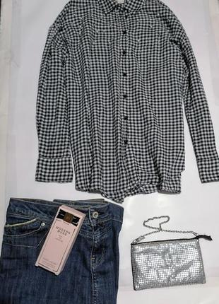 Рубашка с жемчужинами,h&m ,коттон 100%