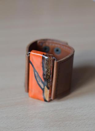 Оригинальный кожаный браслет размер one size