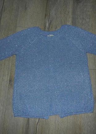 Oodji,голубой стильный свитер, пуловер,джемпер с люриксом с ра...