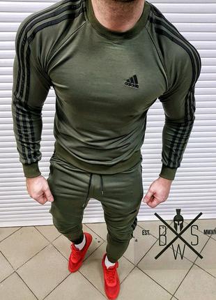 Спортивный костюм Adidas (олива)