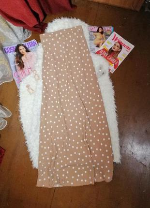 Трендовая юбка в горох /актуальна спідниця в принт горох