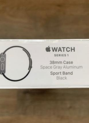 Apple Watch Series 1 38mm Space Gray Black Sport Band (MP022)