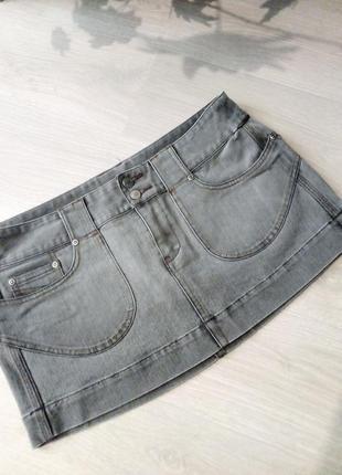 Брендовая джинсовая юбка new look