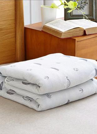 Детское пеленальное муслиновое одеяло 90*110 см