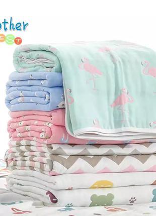Продам детское одеяло 110*110см муслиновое хлопковое одеяло.