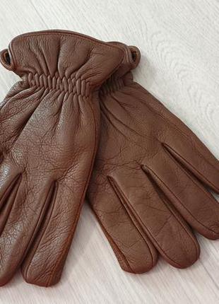 Кожаные мужские теплые перчатки, большой размер. финляндия