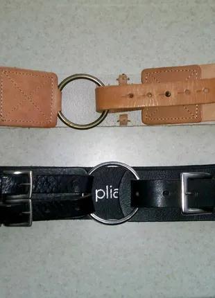 Широкие женские кожаные пояса Elle и Pliable